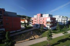 Röda plana hus Royaltyfria Bilder