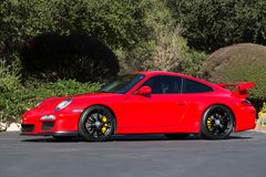 RÖDA Porsche GT3 Arkivbild