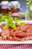 Röda räkor med persilja Arkivfoto