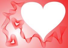 röda ramhjärtor Royaltyfria Bilder
