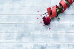 Röda ro för valentindag fotografering för bildbyråer