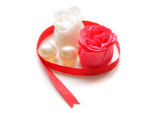 röda ro soap white Royaltyfri Bild