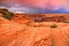 Röda rock och kanjoner Royaltyfria Bilder
