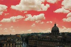 röda rome Arkivfoto