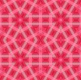 Röda rosa färger för sömlös sexhörningsmodell Royaltyfri Foto