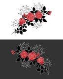 Röda rosor Stock Illustrationer
