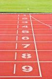 röda running spår Arkivbilder