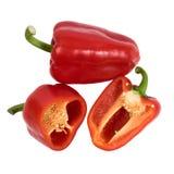 Röda söta peppar för Ð-¡ ut som isoleras på vit bakgrund royaltyfria bilder