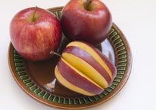 Röda saftiga Apple Fotografering för Bildbyråer
