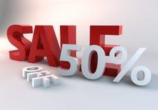 Röda Sale 50% Arkivbild