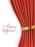Röda satänggardiner Royaltyfri Foto