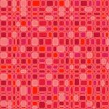 röda seamless fyrkanter stock illustrationer