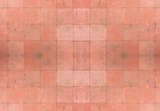 röda seamless tegelplattor för bakgrund Arkivbild