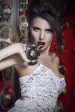 röda sexiga kvinnor för kanter Royaltyfri Fotografi