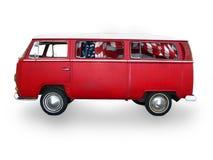 röda skåpbil tappning Royaltyfria Bilder
