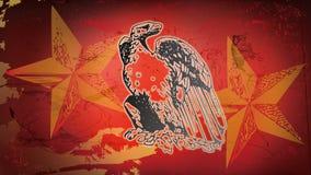 Röda skalliga Eagle och stjärna Royaltyfri Foto