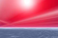 röda skies Arkivfoto