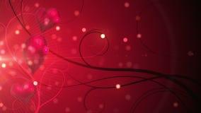 Röda skimrande hjärtor med kopieringsutrymme royaltyfri illustrationer