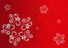 röda snowflakes royaltyfri illustrationer