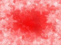 röda snowflakes vektor illustrationer