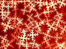 Röda snowflakes Royaltyfri Bild