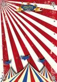 Röda solstrålar för cirkus Arkivbilder