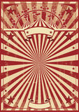 Röda solstrålar för tappning Arkivbilder