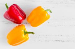 Röda spanska peppar för orange guling Fotografering för Bildbyråer
