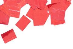 Röda sparklespangles fotografering för bildbyråer