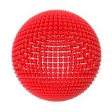 röda spherespheres Arkivbild