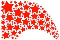 röda stjärnor Royaltyfri Bild