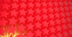 röda stjärnor Arkivbilder