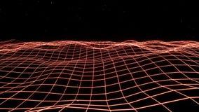 Röda stora data och information som flödar till och med cyberspace vektor illustrationer
