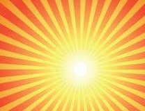 Röda strålar av solen Arkivfoto
