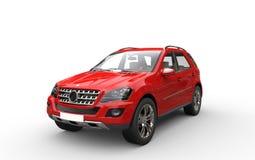 Röda SUV Arkivfoto