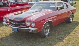 1970 röda svarta Chevy Chevelle SS Arkivfoton