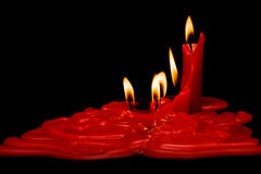 röda svarta stearinljus för bakgrund Royaltyfria Bilder