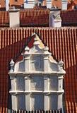 röda tak Arkivbilder