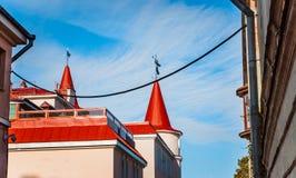 röda tak Royaltyfria Foton