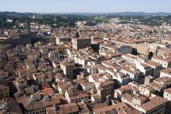 Röda tak av Florence Royaltyfri Fotografi