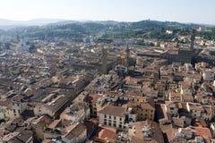 Röda tak av Florence Royaltyfria Bilder
