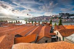 Röda tak av Porto Royaltyfri Fotografi