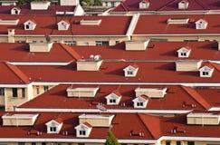 Röda tak av Shanghai Royaltyfria Bilder