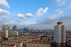 Röda tak av Shanghai Arkivfoton