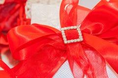 Röda tankar för bröllop Arkivbilder