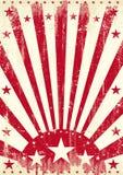 Röda tappningsolstrålar Arkivbilder