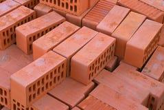 röda tegelstenar Fotografering för Bildbyråer