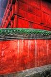röda tempelväggar Arkivbilder