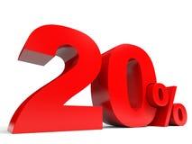 Röda tjugo procent av rabatt 20 Fotografering för Bildbyråer