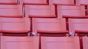 Röda tomma platser i stadion stock video